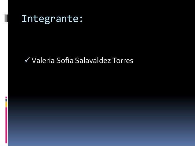Integrante: Valeria Sofia Salavaldez Torres