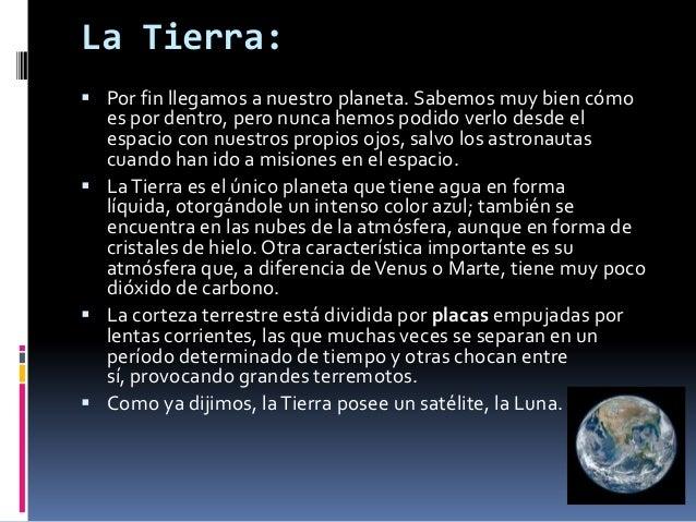 La Tierra: Por fin llegamos a nuestro planeta. Sabemos muy bien cómo  es por dentro, pero nunca hemos podido verlo desde ...
