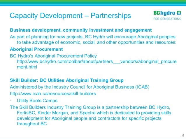 Aboriginal Education and Employment Strategy - BC Hydro - Valerie Mon…