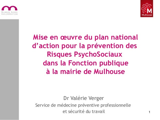 Mise en œuvre du plan national d'action pour la prévention des Risques PsychoSociaux dans la Fonction publique à la mairie...