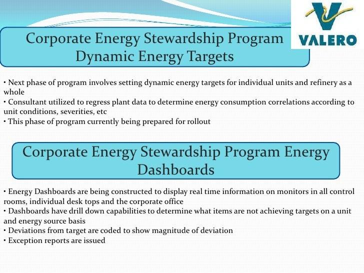 Valero refinery energy