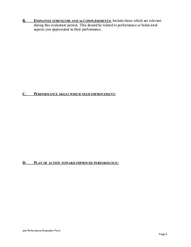valet cashier performance appraisal  evaluation form page 5 6