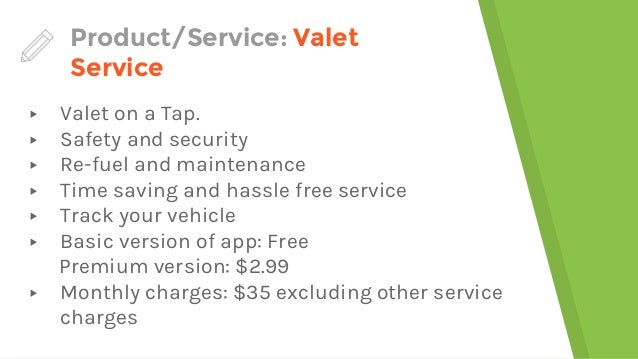 Valet service marketing plan