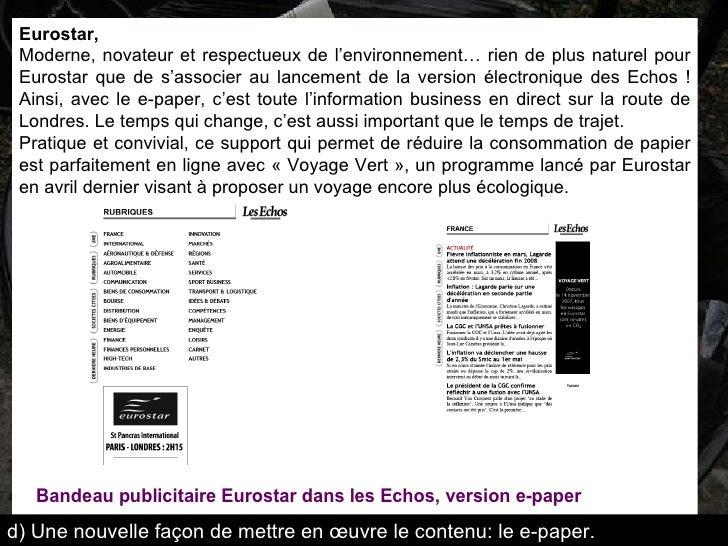 Eurostar,  Moderne, novateur et respectueux de l'environnement… rien de plus naturel pour Eurostar que de s'associer au la...