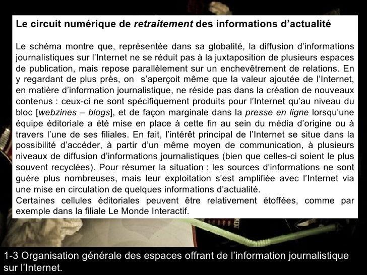 Le circuit numérique de  retraitement  des informations d'actualité Le schéma montre que, représentée dans sa globalité, l...