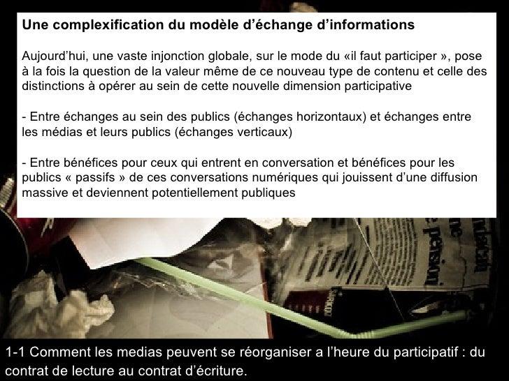 <ul><li>Une complexification du modèle d'échange d'informations </li></ul><ul><li>Aujourd'hui, une vaste injonction global...