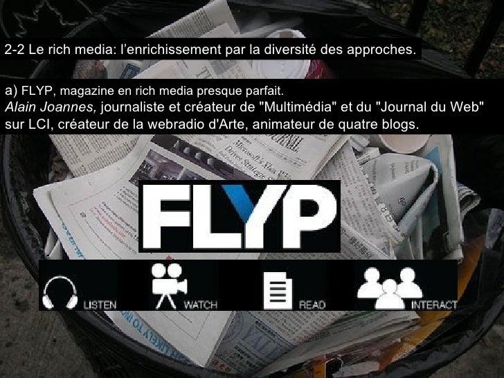 """a)  FLYP, magazine en rich media presque parfait. Alain Joannes,  journaliste et créateur de """"Multimédia"""" et du ..."""