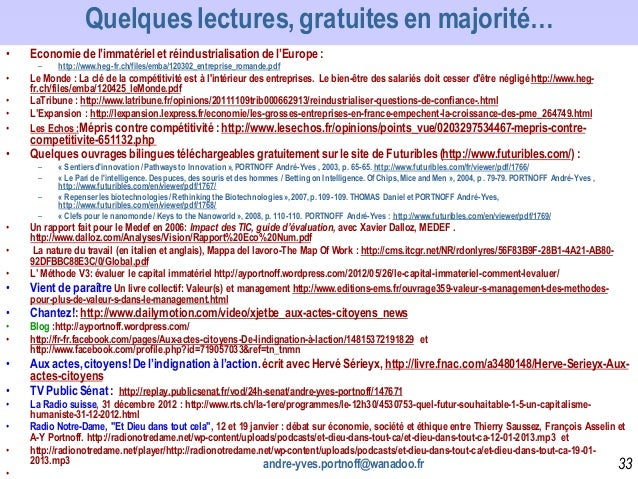• Economie de l'immatérielet réindustrialisation de l'Europe: – http://www.heg-fr.ch/files/emba/120302_entreprise_romande....