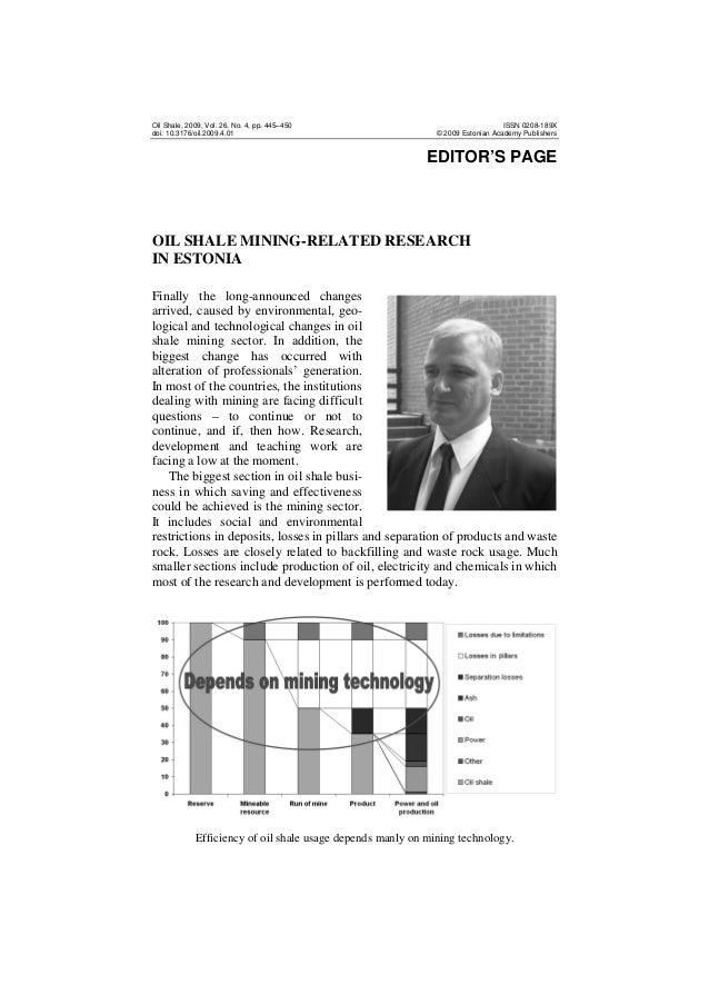 Oil Shale, 2009, Vol. 26, No. 4, pp. 445–450 doi: 10.3176/oil.2009.4.01  ISSN 0208-189X © 2009 Estonian Academy Publishers...