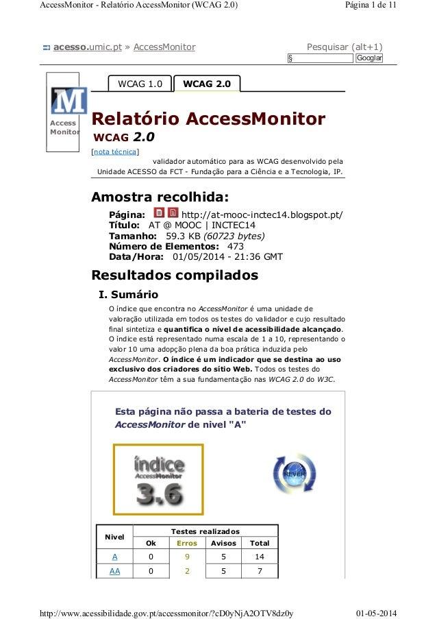 acesso.umic.pt » AccessMonitor Pesquisar (alt+1) § Googlar Access Monitor Página: Título: Tamanho: Número de Elementos: Da...