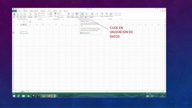 CLICK EN VALIDACION DE DATOS