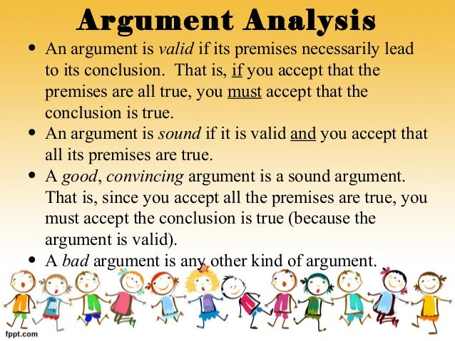 analysis of an argument This page provides a gmat-style argument analysis prompt (topic), along with a model essay that responds to the prompt.