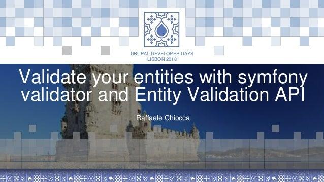 Validate your entities with symfony validator and entity