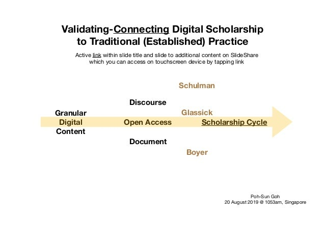 Granular Digital Content Open Access Document Discourse Scholarship Cycle Boyer Glassick Schulman Validating-Connecting Di...