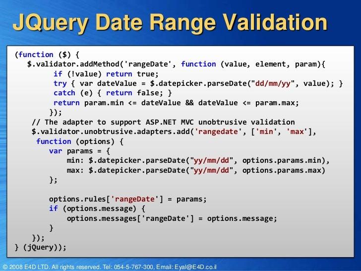 ASP NET MVC 3 0 Validation