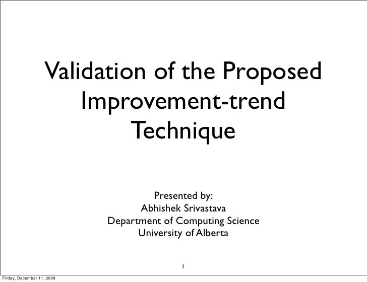 Validation of the Proposed                        Improvement-trend                             Technique                 ...