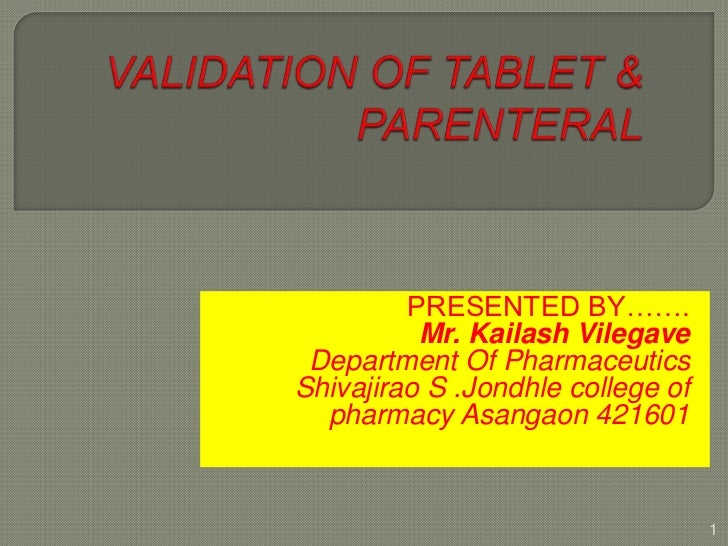 PRESENTED BY…….          Mr. Kailash Vilegave Department Of PharmaceuticsShivajirao S .Jondhle college of  pharmacy Asanga...