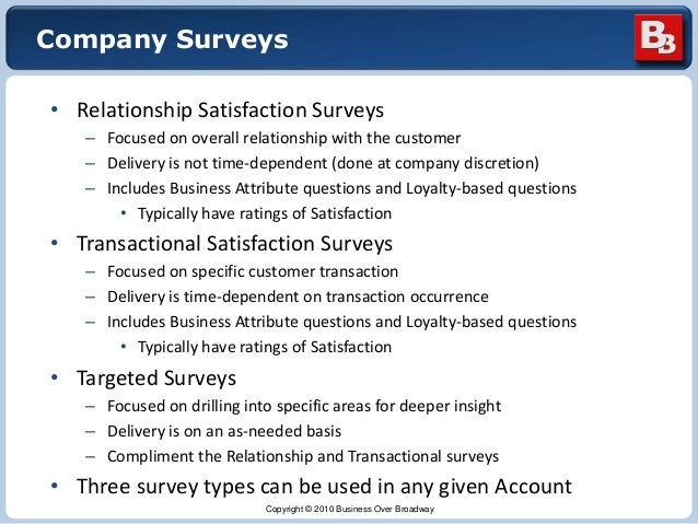 Validation of Customer Survey