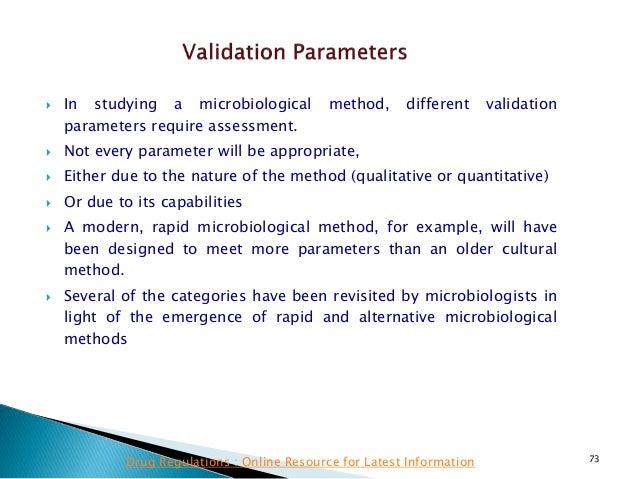 Validating rapid microbiology methods