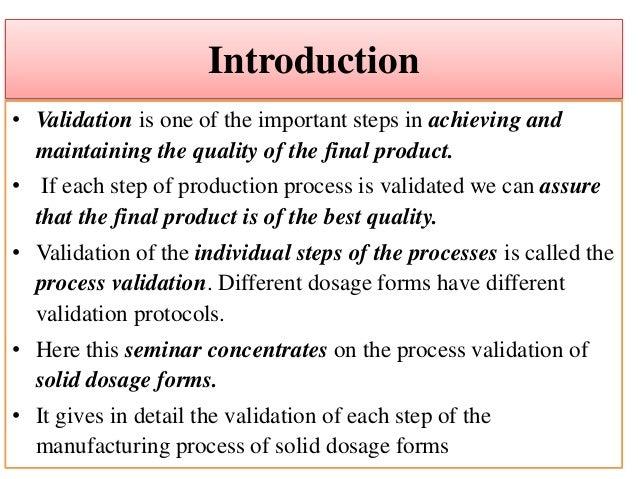 M.pharm thesis on process validation