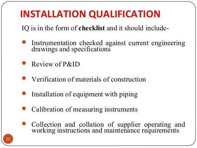 Installation Installation Qualification Template