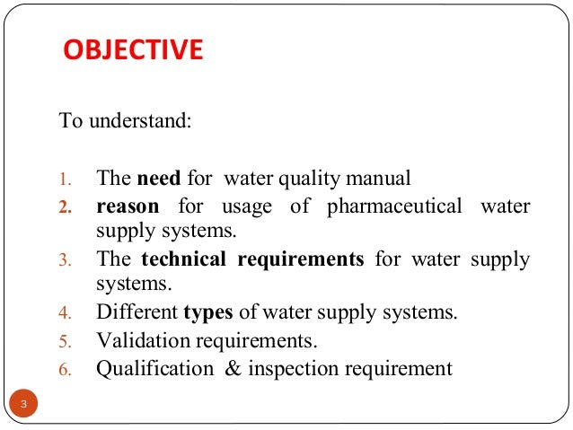 Validation Of Water Supply System