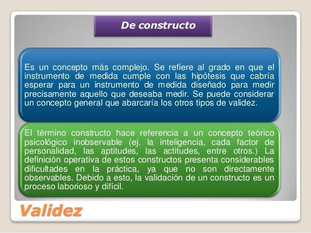 validez y confiabilidad definicion pdf