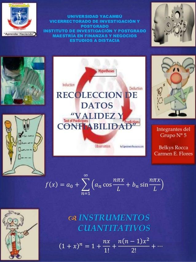 UNIVERSIDAD YACAMBÚ  VICERRECTORADO DE INVESTIGACIÓN Y  POSTGRADO  INSTITUTO DE INVESTIGACIÓN Y POSTGRADO  MAESTRÍA EN FIN...