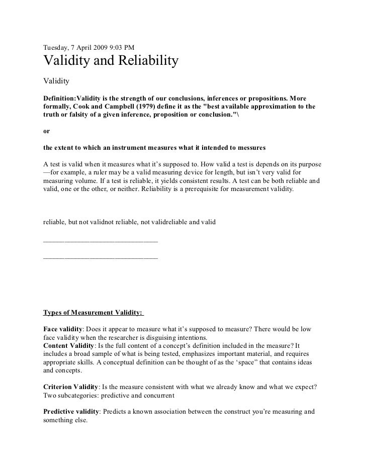 exploring reliability and validity Exploring the reliability and validity of the experiential discounting task rochelle r smits delay discounting is the devaluation of rewards that are delayed in.