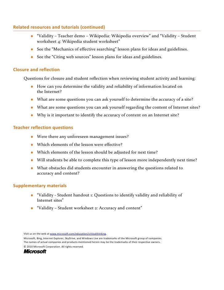 Validity Lessonplan Intermediate