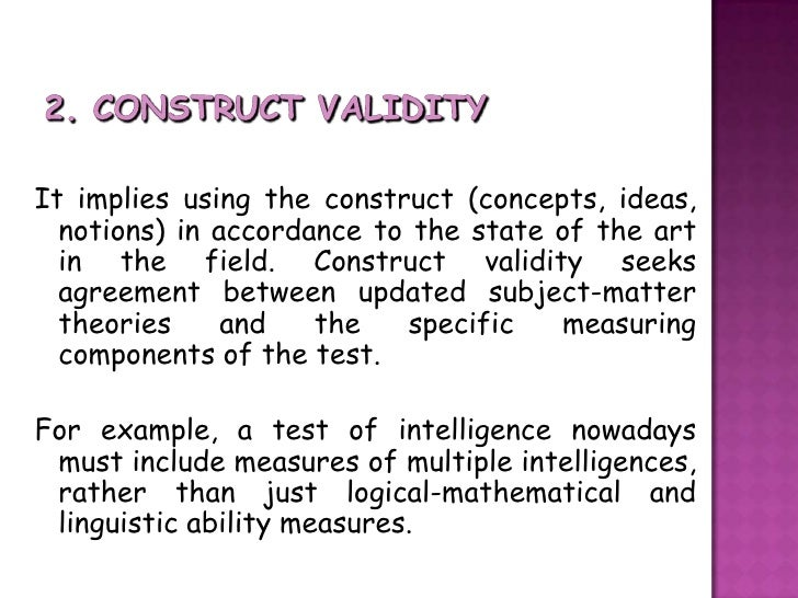 Example of content validity in research