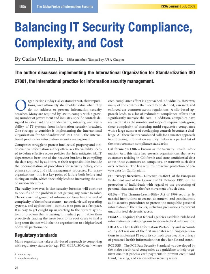 Valiente Balancing It Securitycompliance Complexity Cost