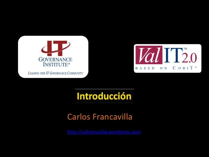 Carlos Francavillahttp://cafrancavilla.wordpress.com