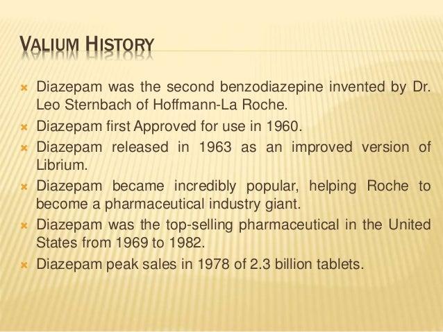 history of valium