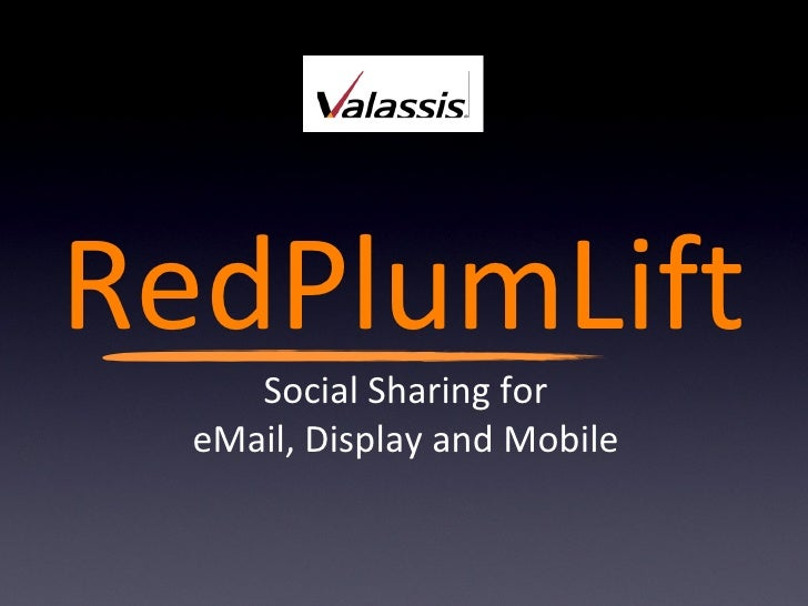 RedPlum Lift Social Sharing for eMail, Display and Mobile