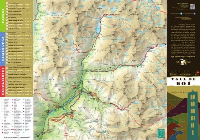 Caldes De Boi Mapa.Mapa Senderismo Del Romanico En El Vall De Boi