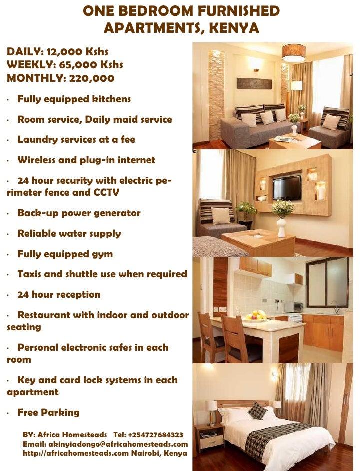Valley Road One Bedroom Furnished Apartments Kenya