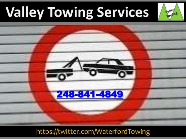 https://twitter.com/WaterfordTowing 248-841-4849 Valley Towing Services