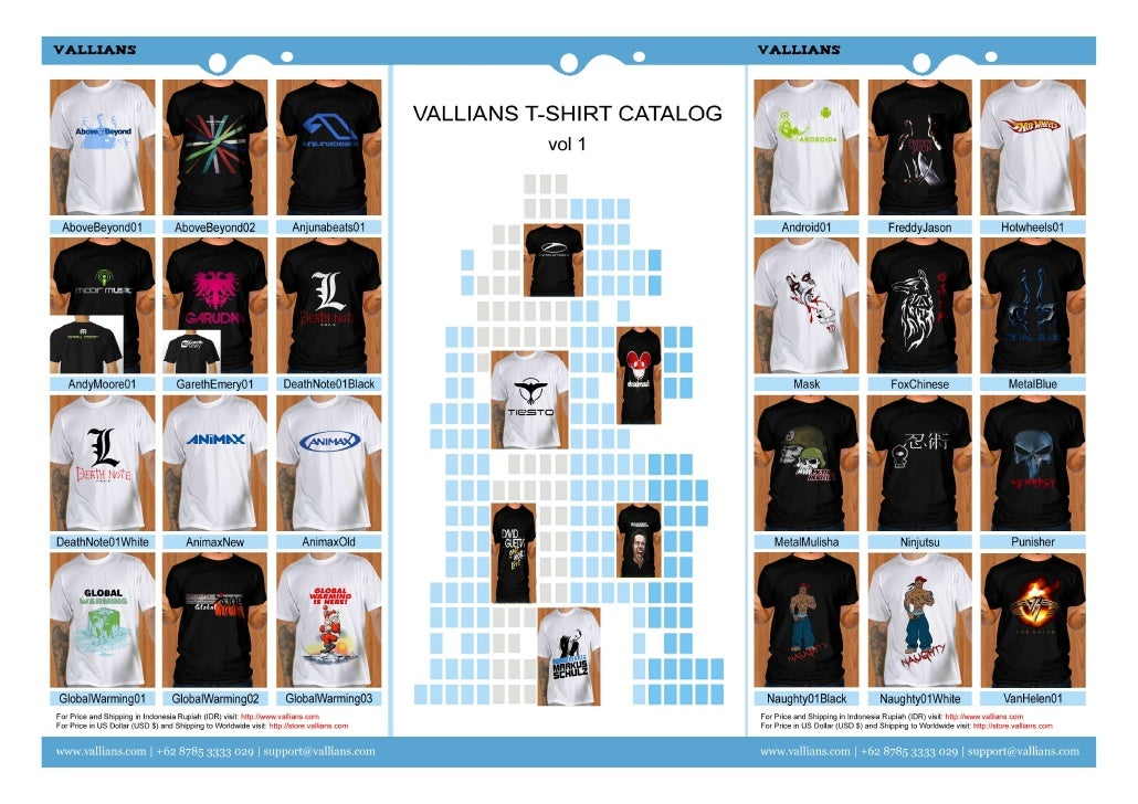 9faf55ad5 Vallians T-Shirt Catalog Vol 1