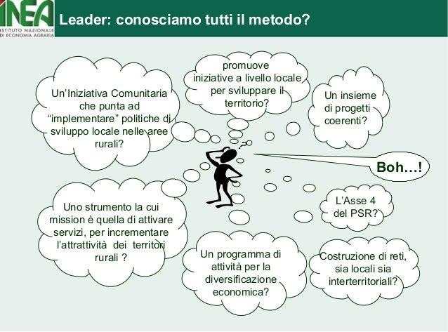 Leader: conosciamo tutti il metodo?  Uno strumento la cui  mission è quella di attivare  servizi, per incrementare  l'attr...