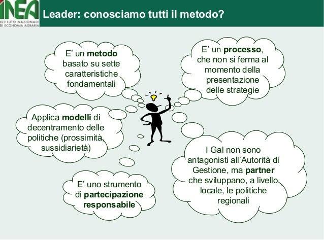 Leader: conosciamo tutti il metodo?  Applica modelli di  decentramento delle  politiche (prossimità,  sussidiarietà)  E' u...