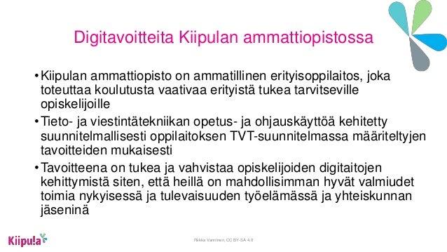 Valma opiskelijoiden osaaminen nakyväksi digitaalisesti Slide 2