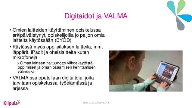 Valma opiskelijoiden osaaminen nakyväksi digitaalisesti Slide 3