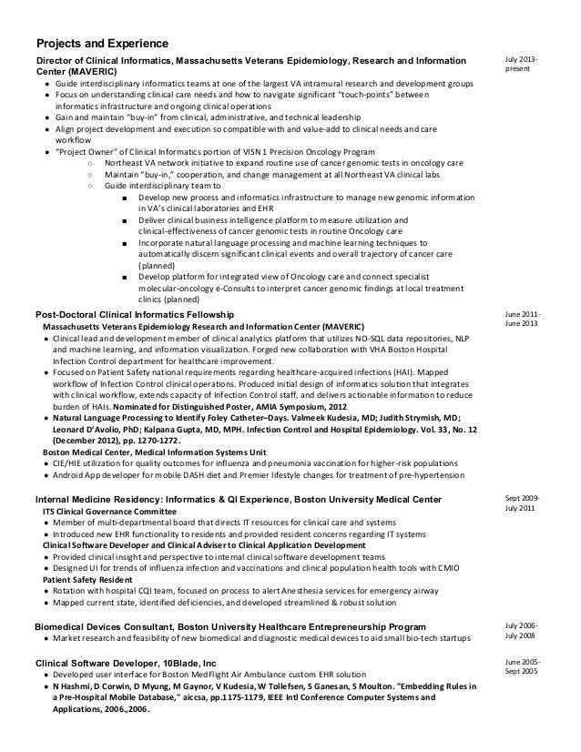 resume informatics