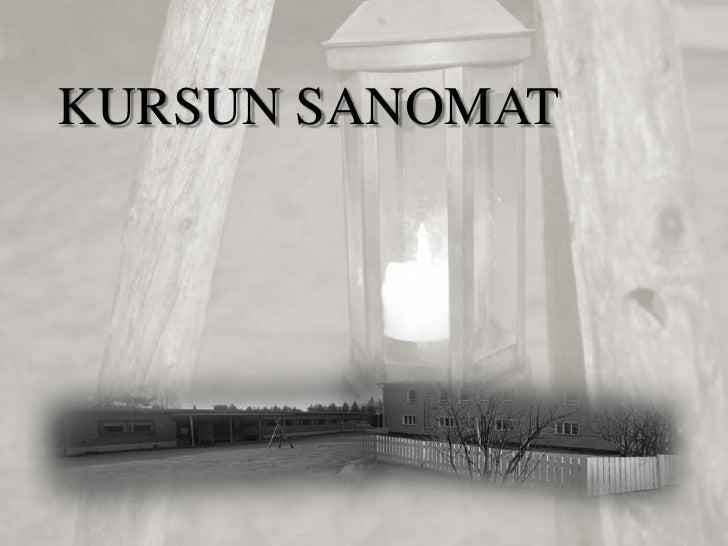 KURSUN SANOMAT                 .