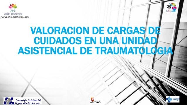 www.gestiondeenfermeria.com  VALORACION DE CARGAS DE CUIDADOS EN UNA UNIDAD ASISTENCIAL DE TRAUMATOLOGIA