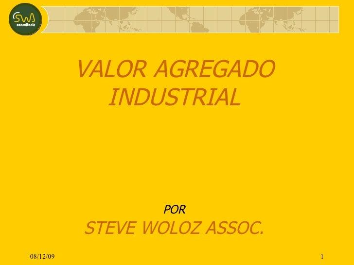 VALOR AGREGADO INDUSTRIAL POR STEVE WOLOZ ASSOC. 08/06/09