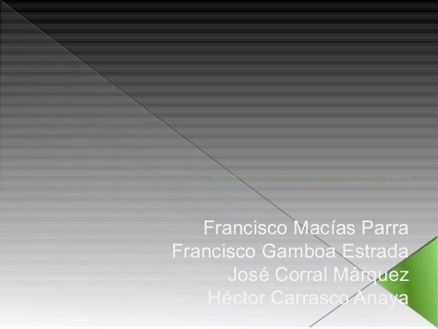 Valor común y pospuesto e Impacto de las políticas de resurtido en el inventario de seguridad  Francisco Macías Parra  Fra...