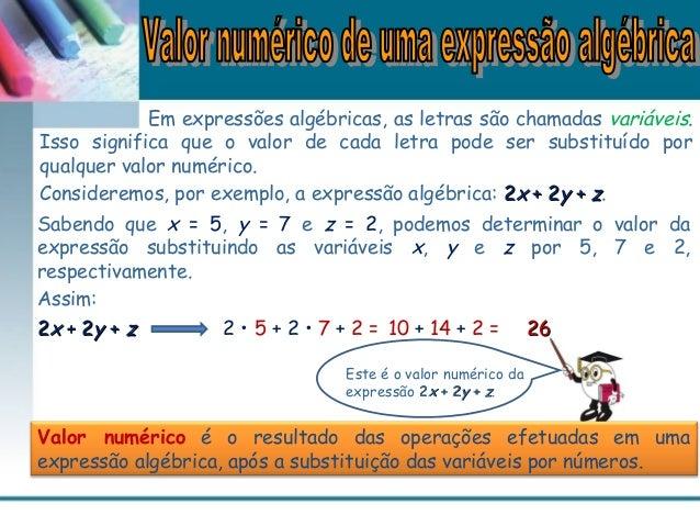 Valor de uma expressão algébrica