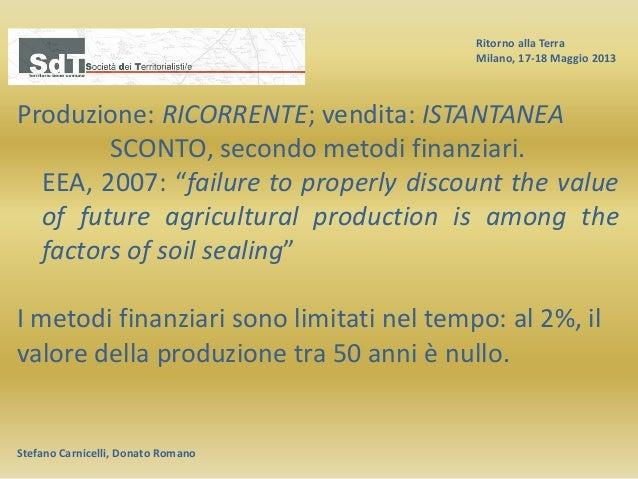 Ritorno alla Terra Milano, 17-18 Maggio 2013 Stefano Carnicelli, Donato Romano Produzione: RICORRENTE; vendita: ISTANTANEA...